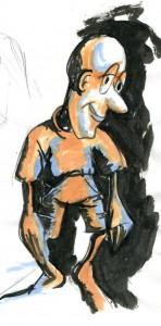ink brush, The Gentle Man doodle
